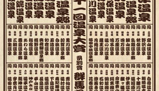 【温泉番付】第11回温泉大賞発表〜「泉質部門」で堂々の第1位の温泉宿はどこ?